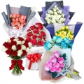 send colorful roses to korea