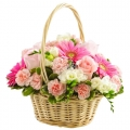 send flowers basket to korea