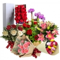 send the various type of flowers to korea