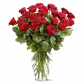 send rose in vase to korea