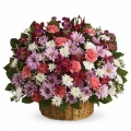 send christmas flowers basket to korea