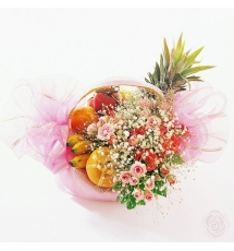 Fruits with Pink Flowers SEnd to Korea