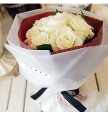 send white rose to korea